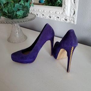 Steve Madden Purple Suede Studded Heels
